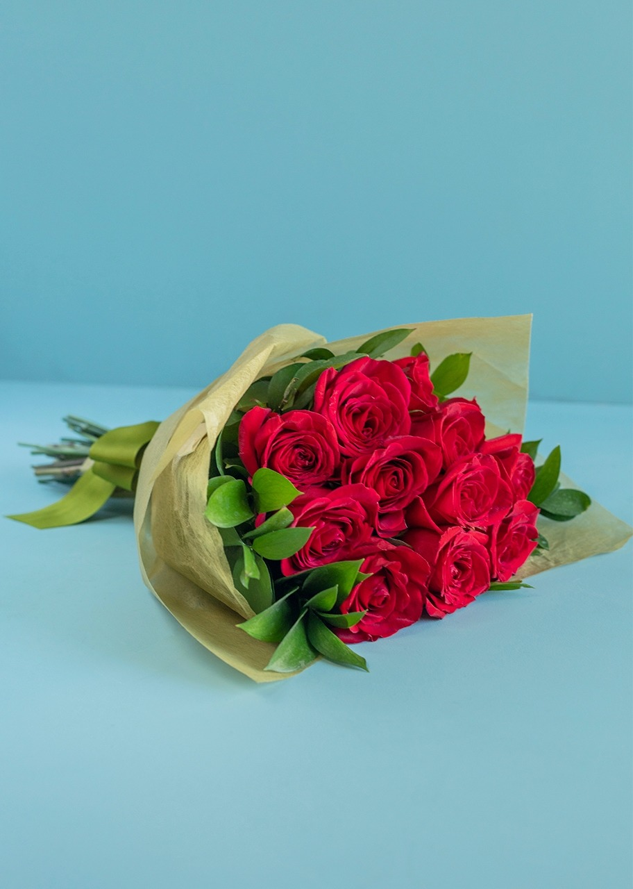 Imagen para Ramo de 12 Rosas Rojas - 1