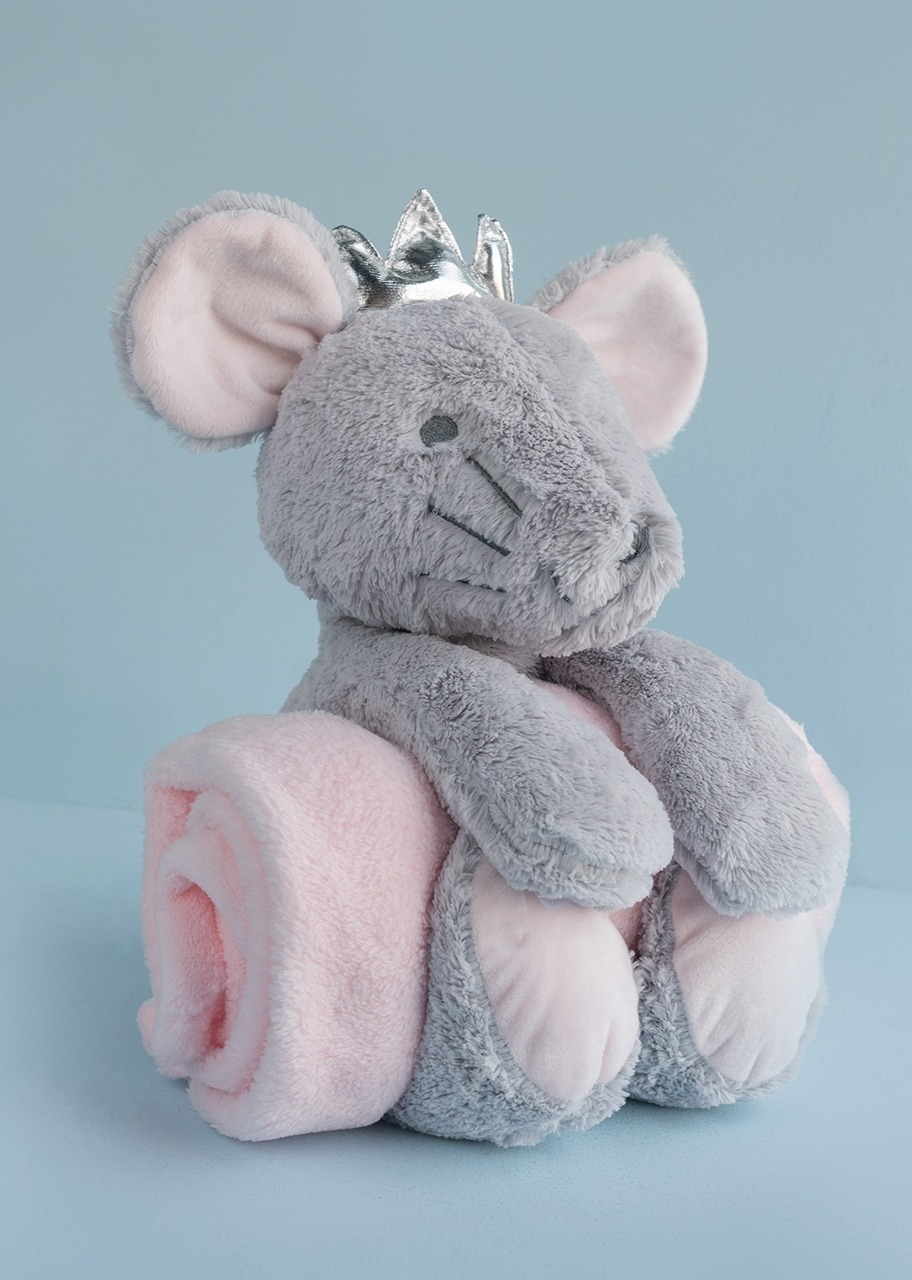 Imagen para Stuffed Mouse with Baby Blanket - 1