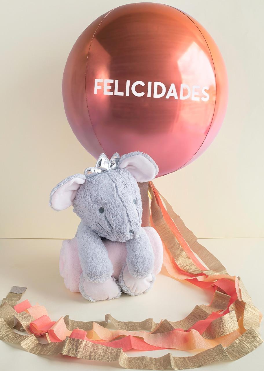 """Imagen para Ratita con colcha con Globo """"Felicidades"""" - 1"""