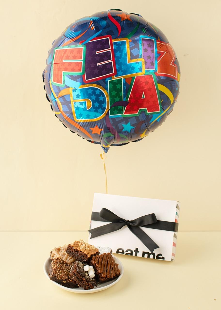 Imagen para Regalo Brownies y Globo Felicidades - 1
