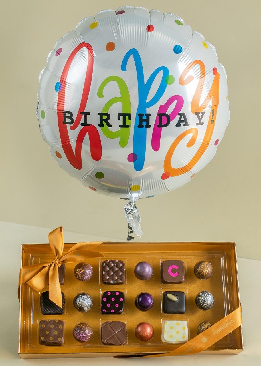 Imagen para Regalo Chocolates Gourmet con Globo de Cumpleaños - 1