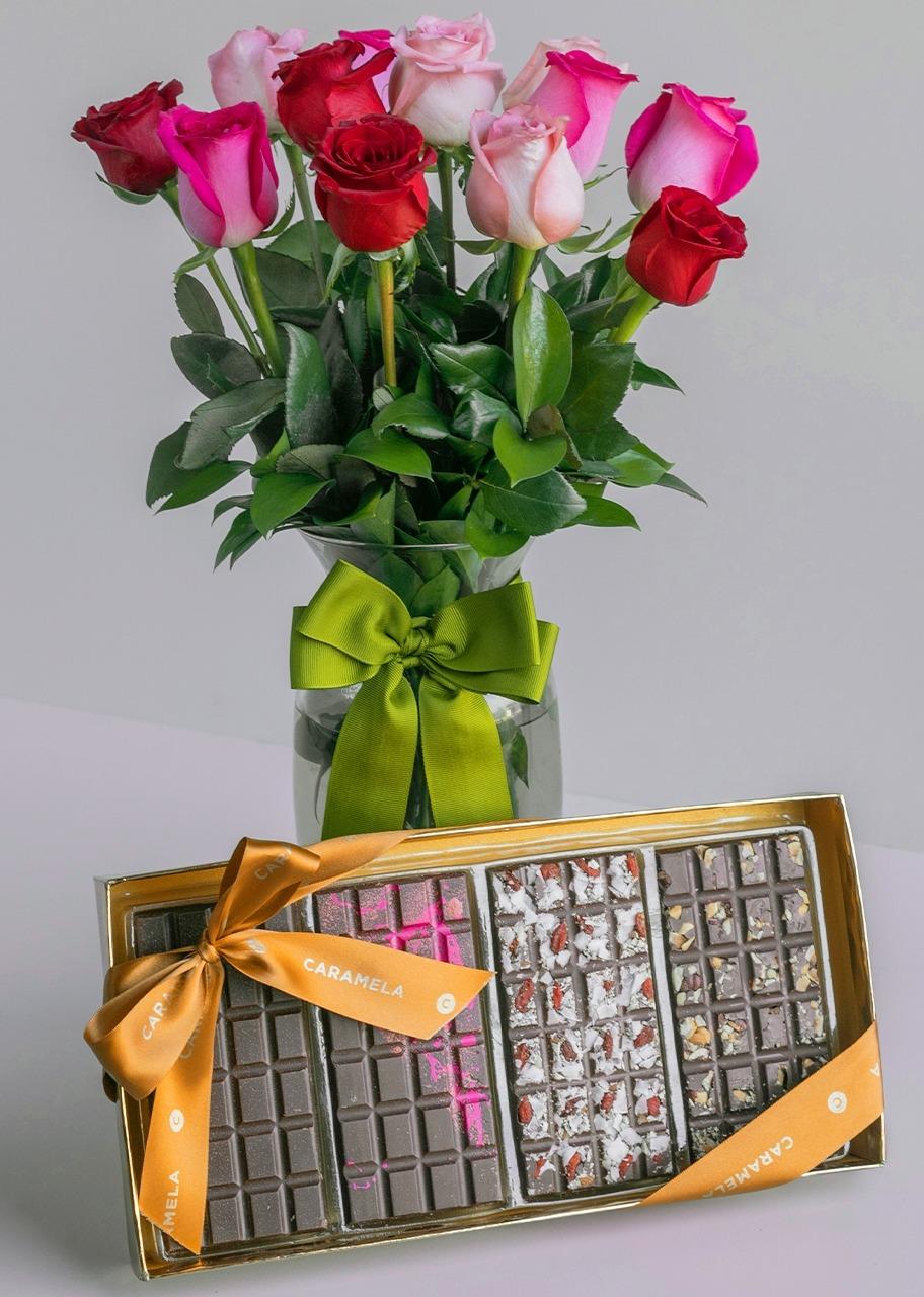 Imagen para Gift Sugar Free Chocolates and Roses - 1