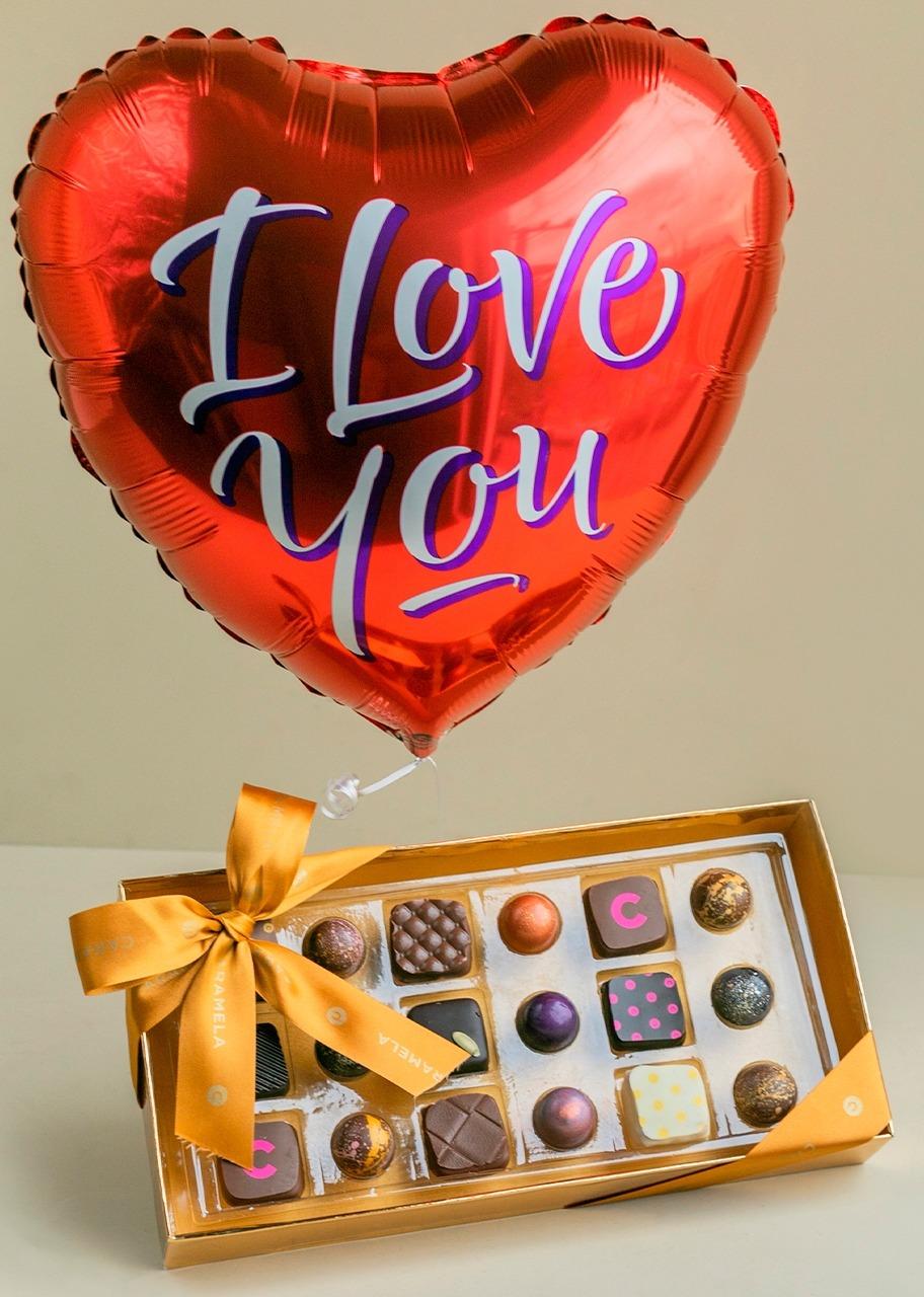 Imagen para Regalo Chocolates con Globo de Amor - 1