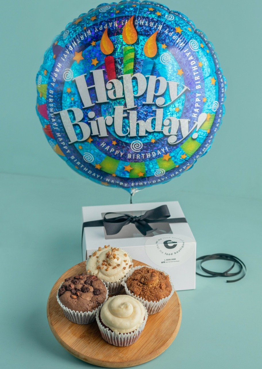 Imagen para Regalo Muffins con globo de cumpleaños - 1