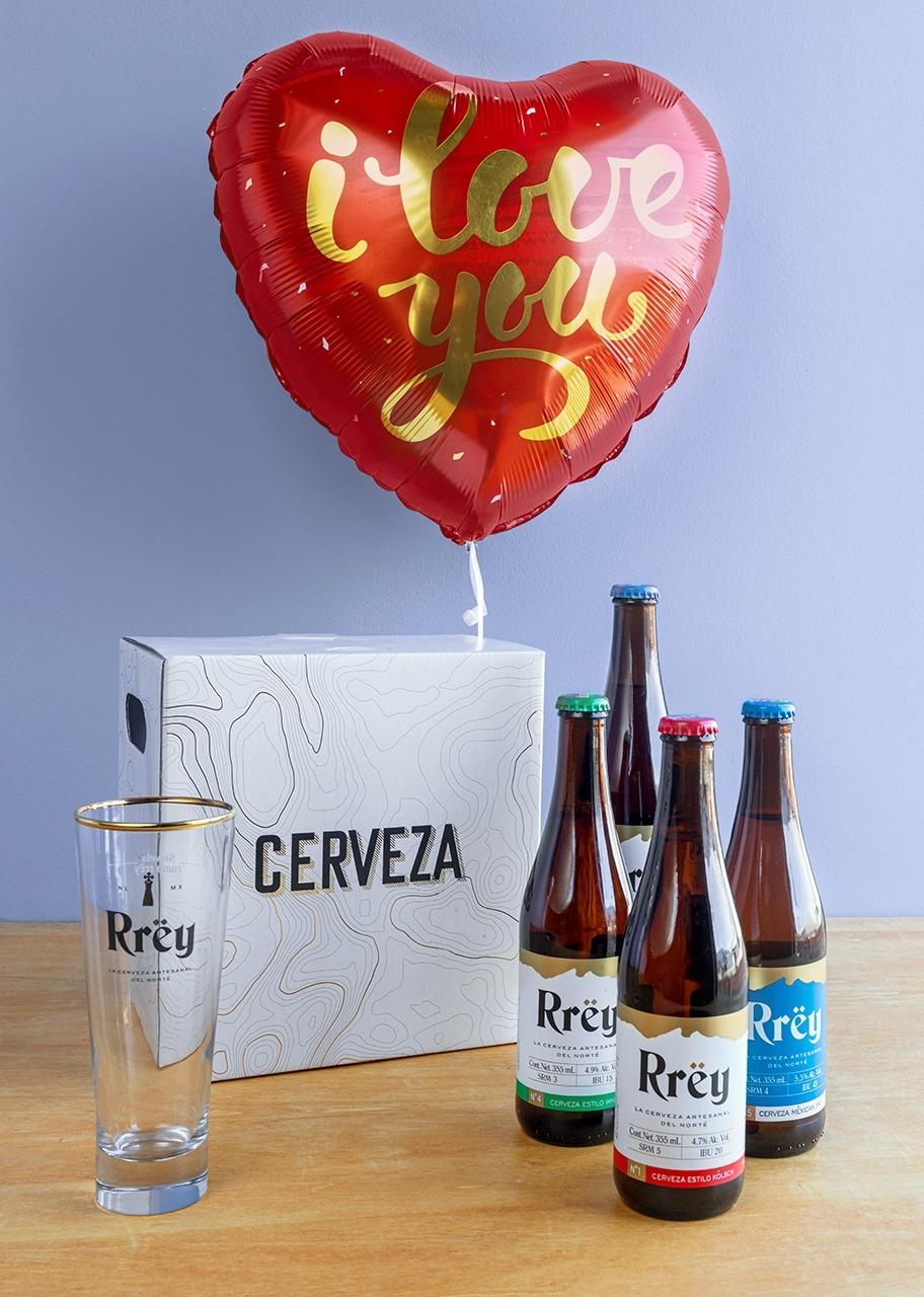 Imagen para Regalo de Cerveza Rrey con Globo de Amor - 1
