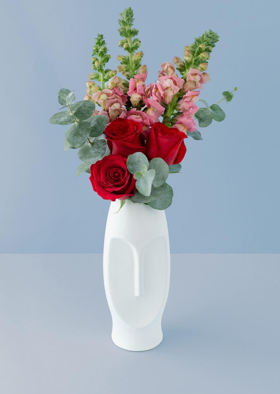 Imagen para Rosa roja y perrito rosa en base mateo - 1