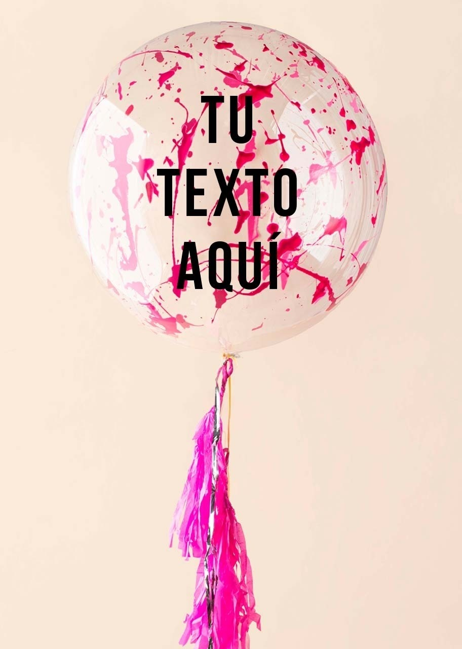 Imagen para Personalize your Pink Splash Bubble Balloon - 1