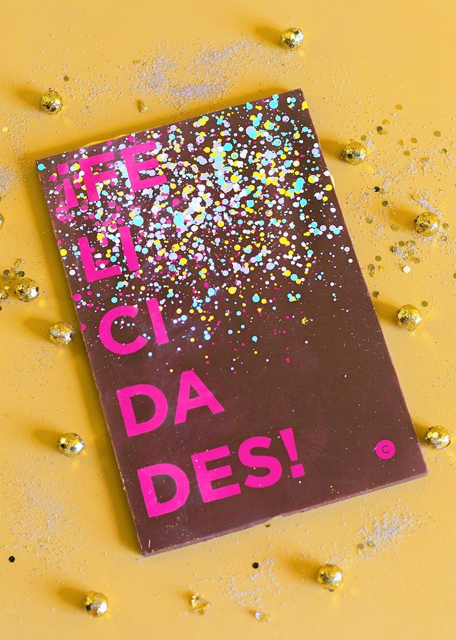 Imagen para Tarjeta de Chocolate Felicidades - 1