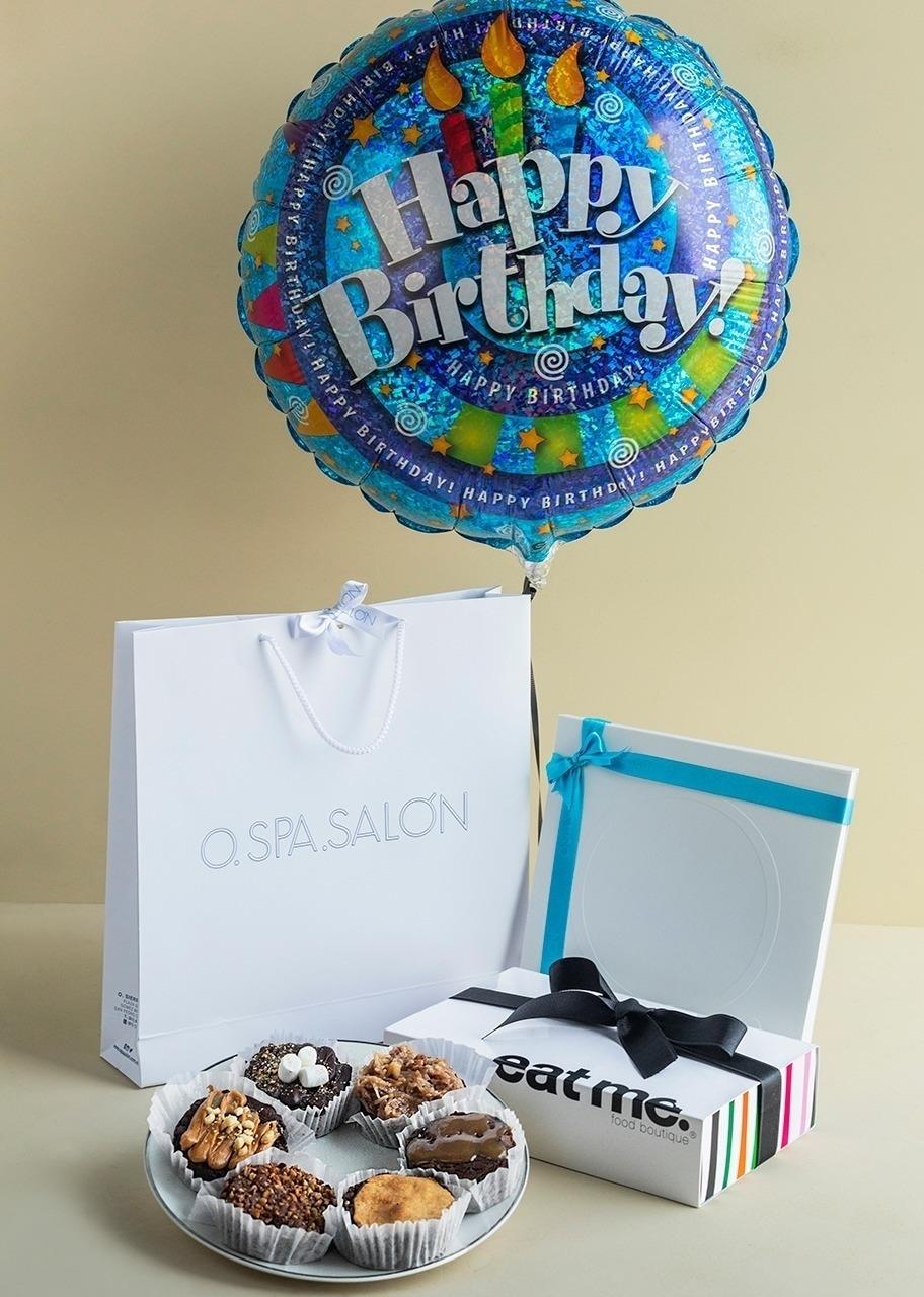 """Imagen para Tarjeta de regalo """"O"""" Masaje de espalda con brownies y globo - 1"""