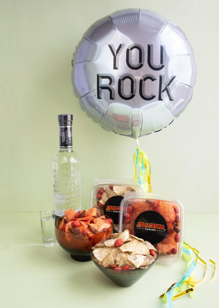 Imagen para Tequila con Botana Pulpika y Globo You Rock - 1
