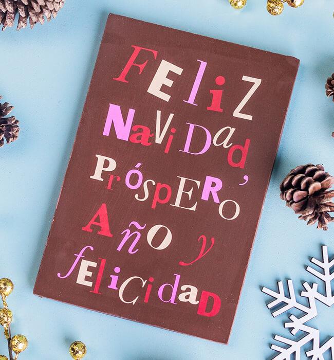 Imagen para Tarjeta de Chocolate Navidad - 1