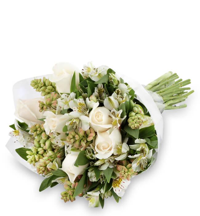 6 Rosas Y Nardos En Bouquet Con Entrega Hoy
