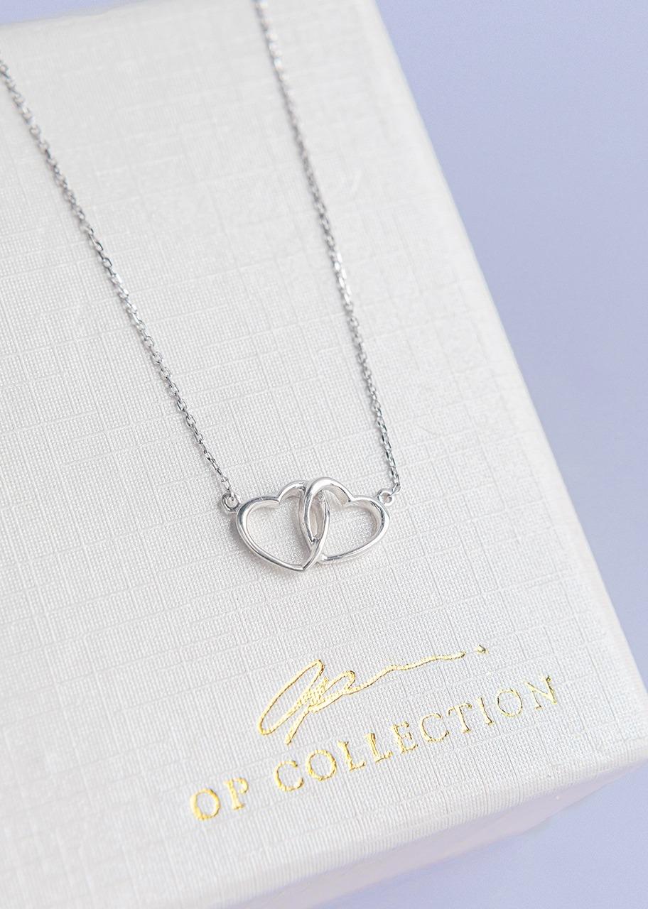 Imagen para collar 2 corazónes - 1