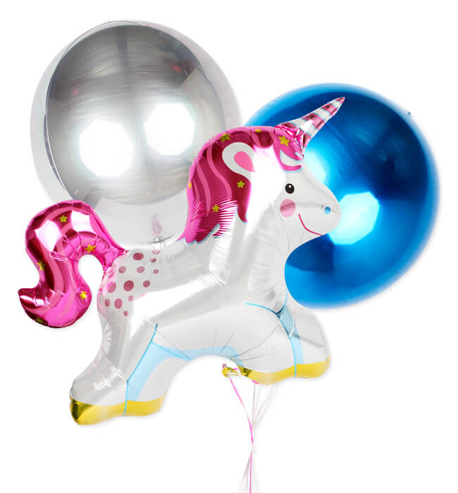 Imagen para Welcome Baby Boy with Unicorn Balloon - 1