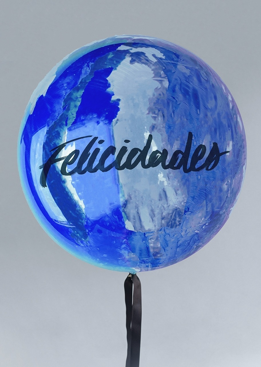 """Imagen para Globo Burbuja """"Felicidades"""" con Listón - 1"""