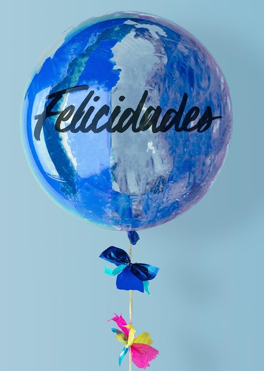 Imagen para Blue Congratulations Bubble Balloon - 1