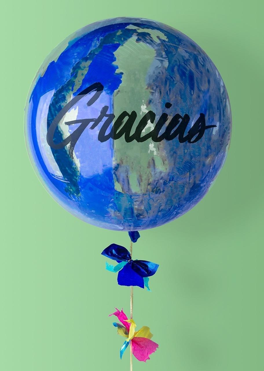 Imagen para Blue Thank You Bubble Balloon - 1