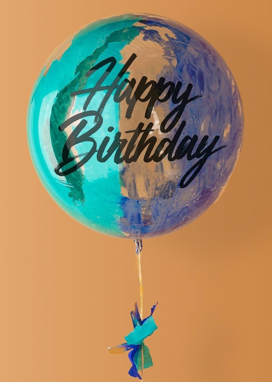 Imagen para Globo Burbuja Azul Happy Birthday - 1