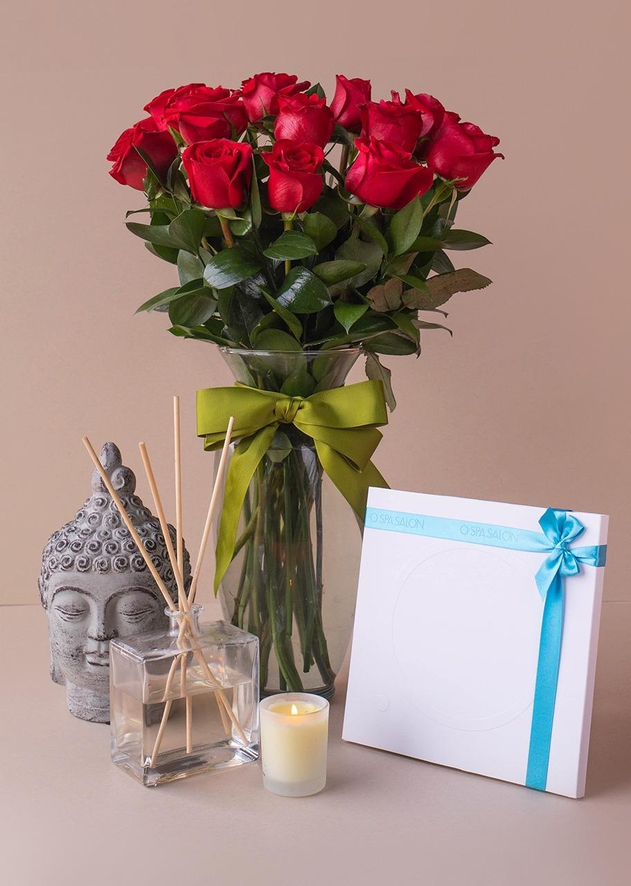 Imagen para Spa con 12 rosas rojas - 1