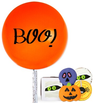 Globo Boo con Galletas de Halloween