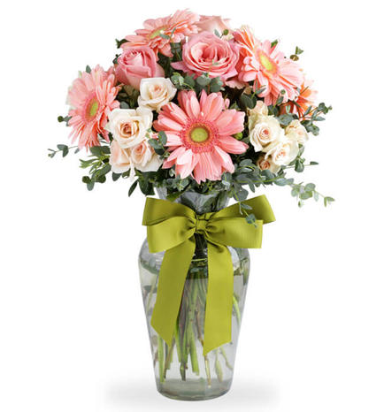 8 Gerbera Daisies and Roses