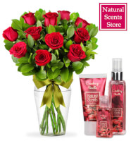 Regalo Mini Kit Plus Natural Scents con Rosas Rojas