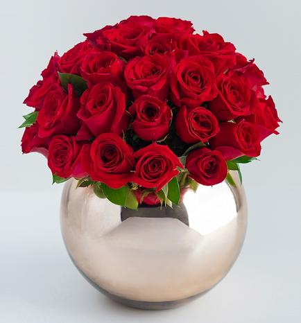 50 Red Roses with Base